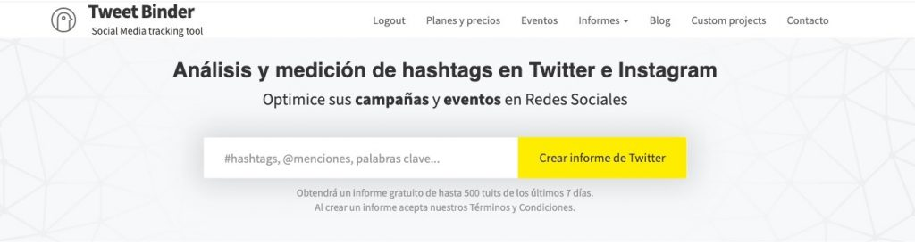 hashtags Twitter tiempo real