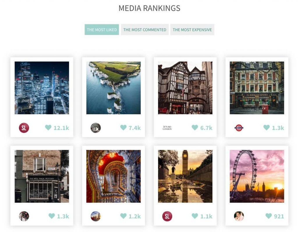 Ranking de publicaciones de Instagram