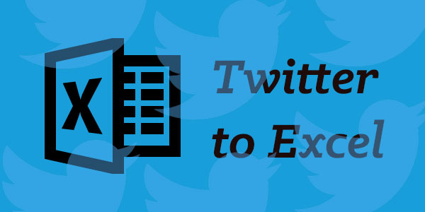 How to export Twitter data to an Excel document