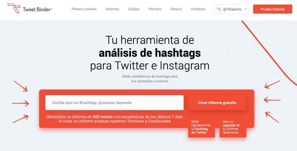 medios sociales con tweet binder