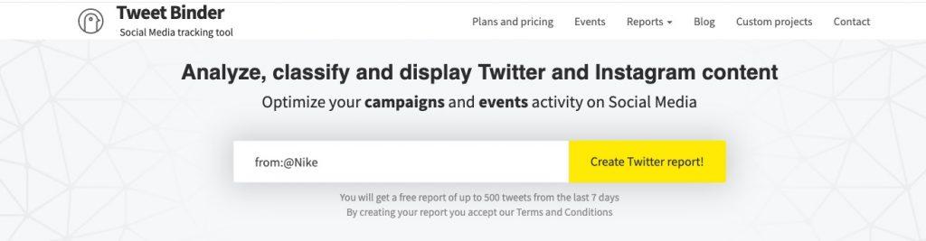 twitter benchmarking analysis