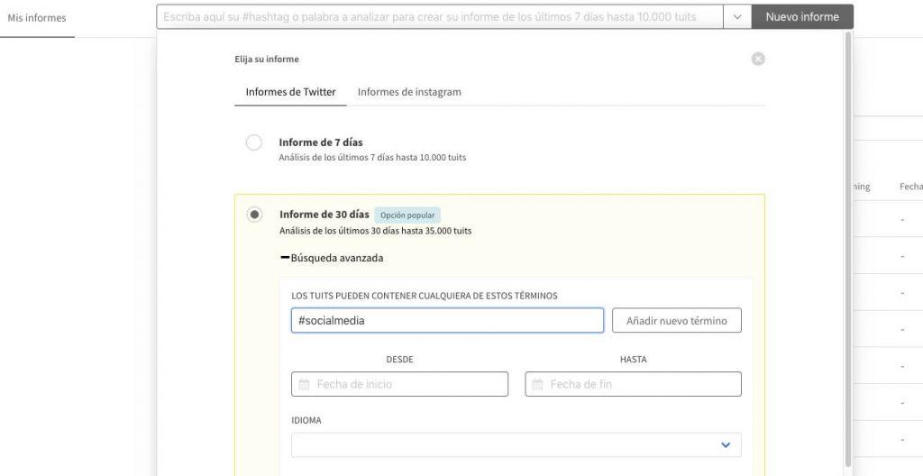 tweet binder informes