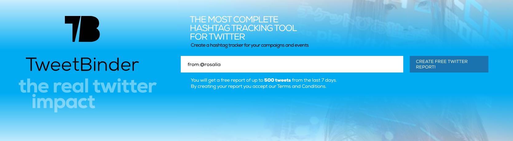 búsqueda avanzada en twitter de los tweets de Rosalia