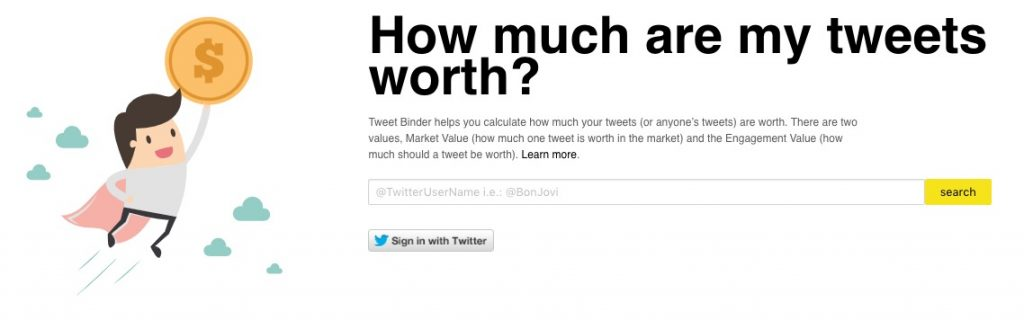 Analyze the value of a Twitter account