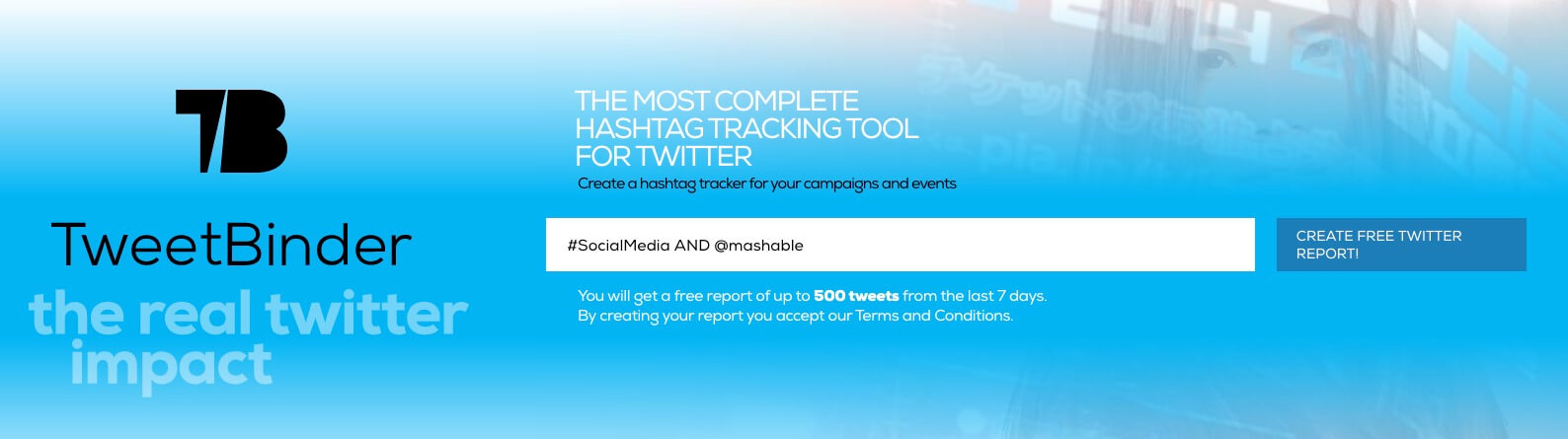 Twitter advanced search for mashable and socialmedia