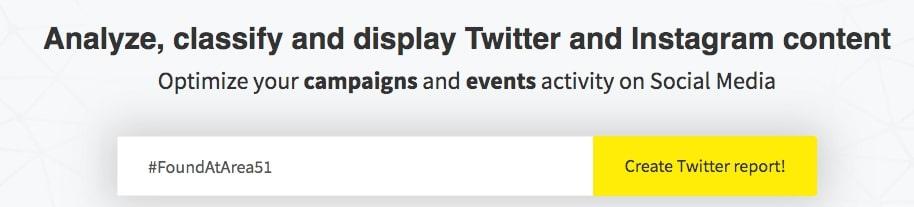 Tweet Reach of a hashtag