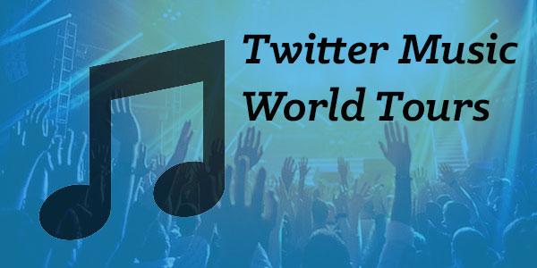 Twitter music tours powered by Tweet Binder