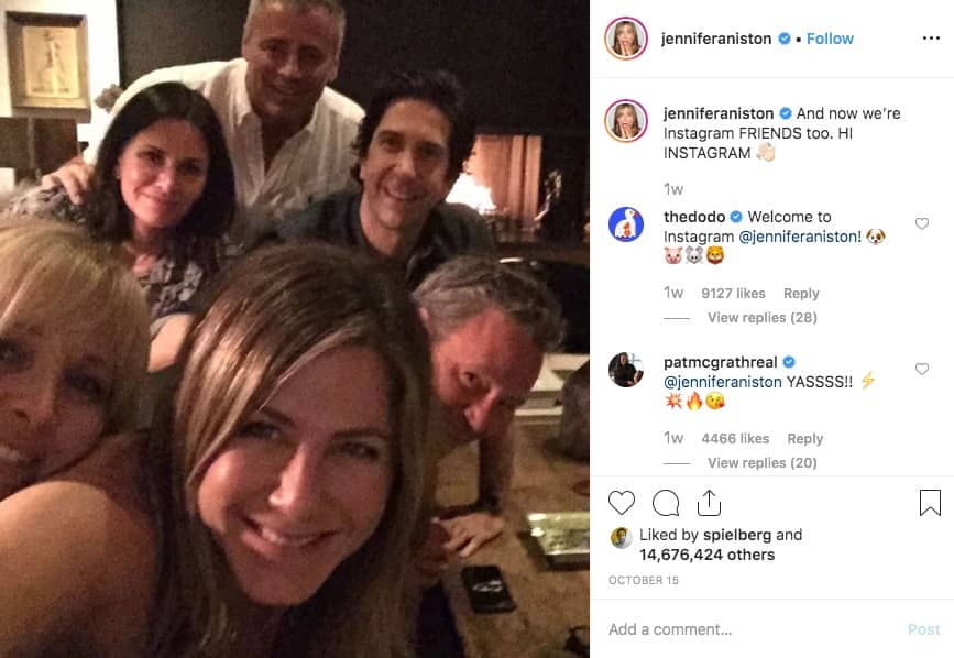 Jennifer Aniston is on Instagram!