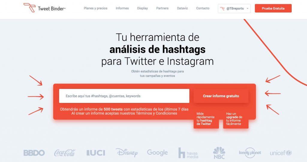 Tweet Binder es una herramienta para analizar hashtag de Twitter en tiempo real