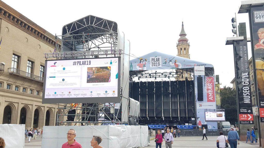 Social wall para el evento del Pilar