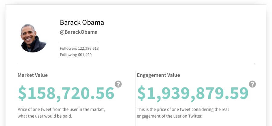 @BarackObama Twitter value