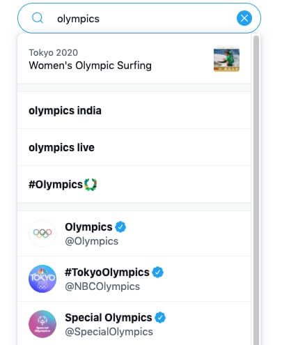 Twitter results Olympics